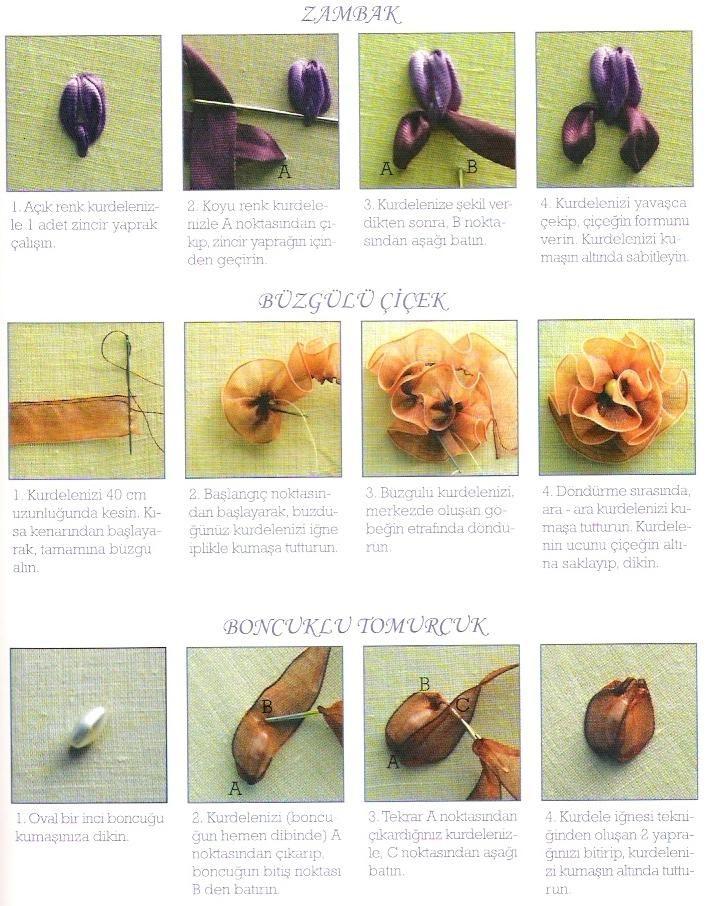 ribbon embroidery   Bordado en listón   Pinterest   Cintas, Bordados ...