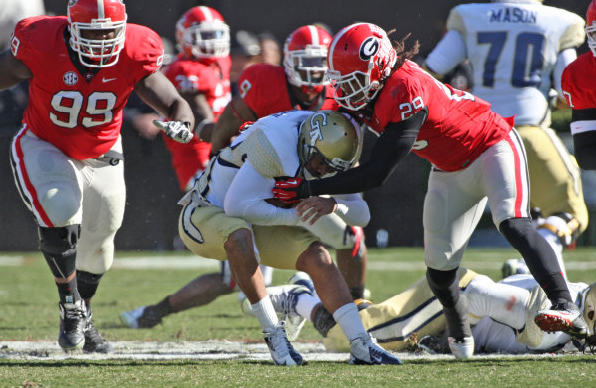 Jarvis Jones UGA vs Tech 2013 football