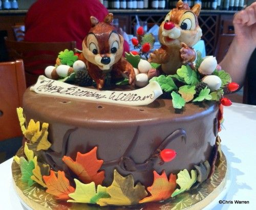 Chip and Dale Cake at California Grill How to celebrate a special