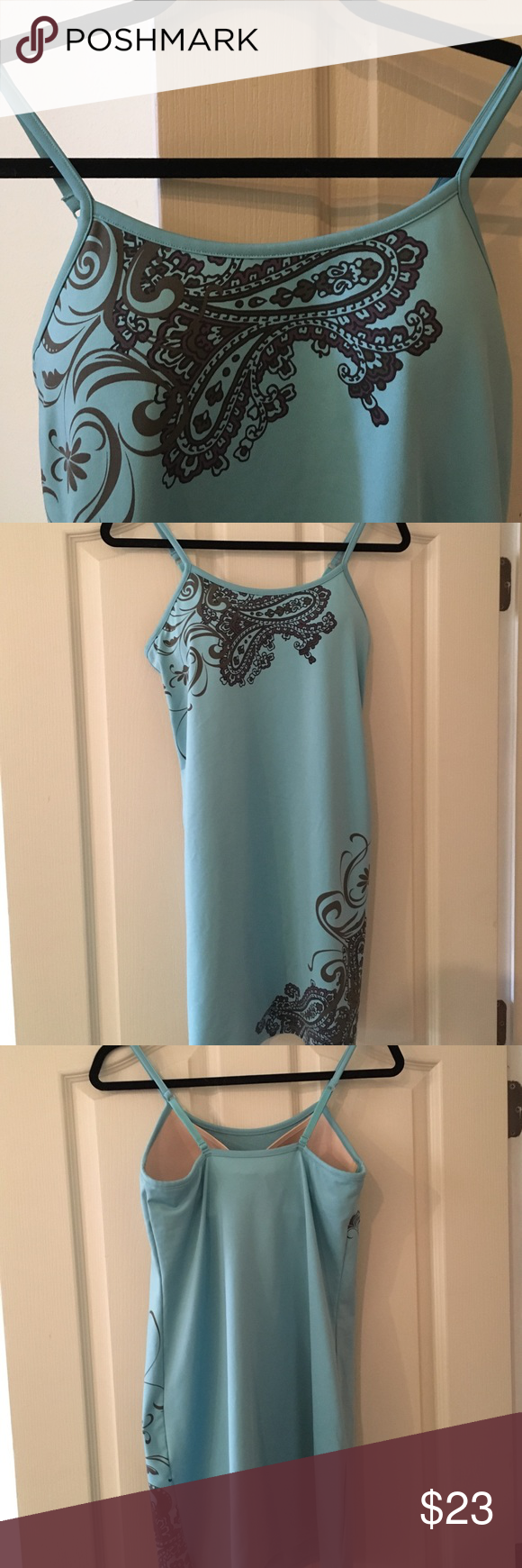 Athleta Summer Dress W Built In Bra Summer Dresses Clothes Design Swim Dress [ 1740 x 580 Pixel ]