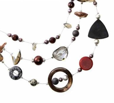 Checkout this amazing deal Multi strand necklace black and red pearl SALE,$49