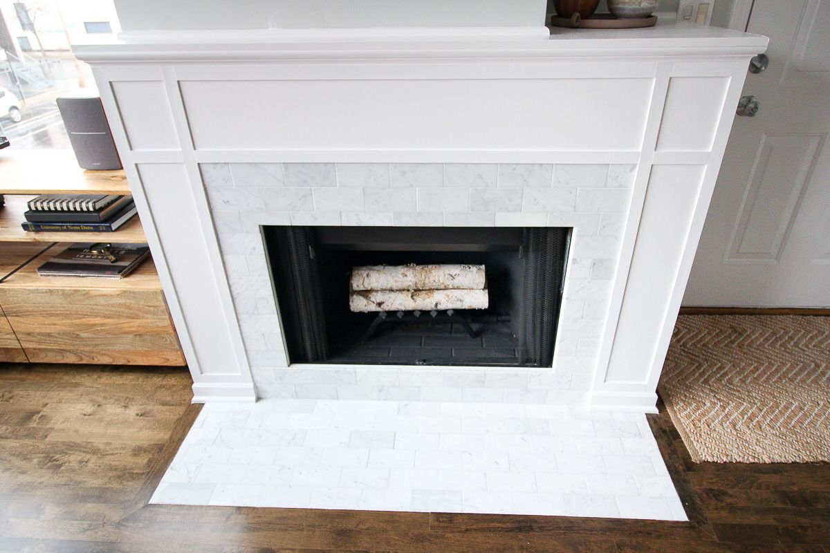 DIY Marble Fireplace Makeover Diy fireplace makeover