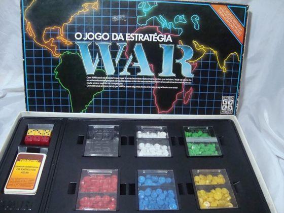 War E Um Jogo De Tabuleiro Que Foi Lancado No Brasil Pela Grow Em 1972 E Disputado Com Um Mapa Do Mundo D Jogos De Tabuleiro Antigos Jogos De Tabuleiro Jogos