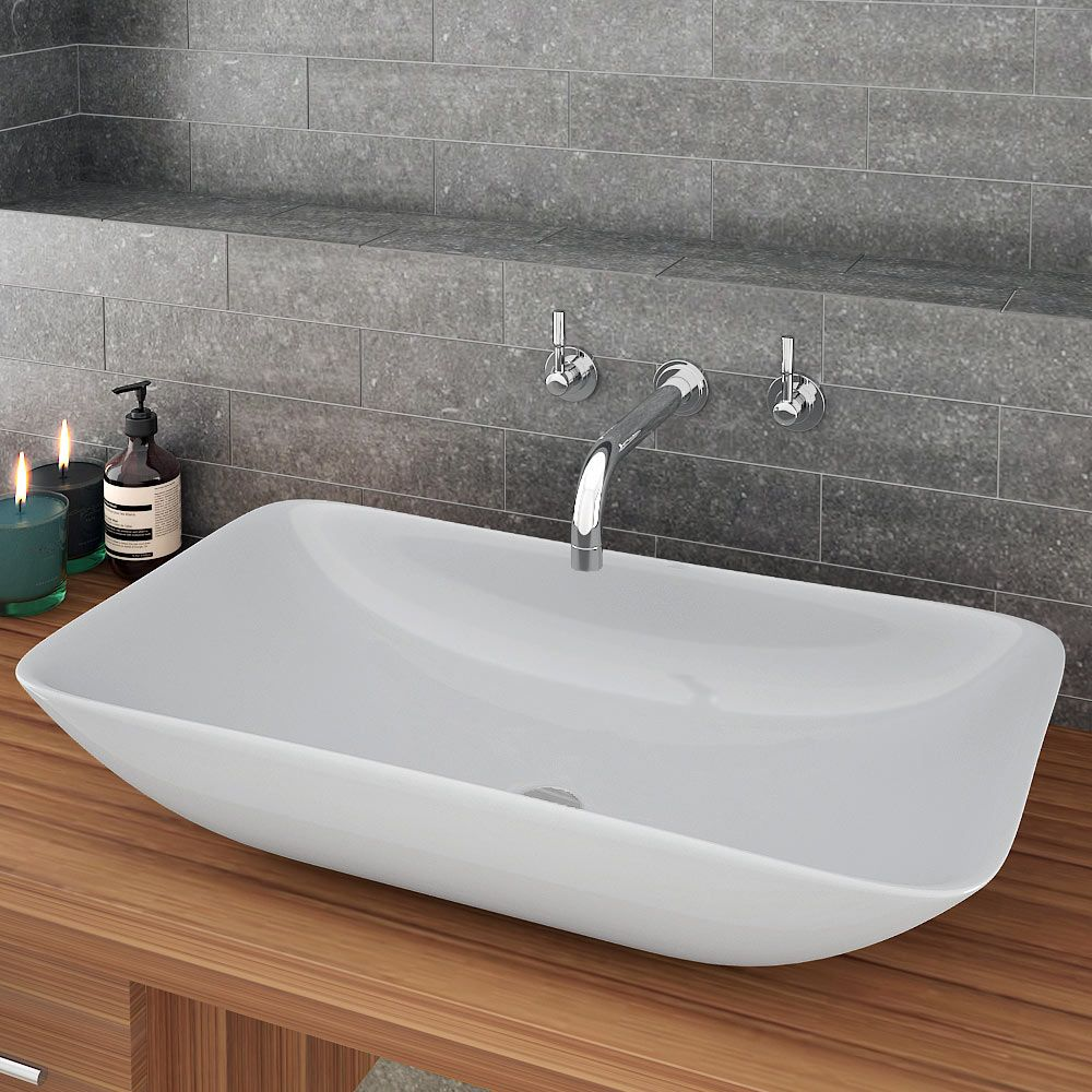 The Stunning Taranto Large Counter Top Basin Will Look Brilliant In Contemporary Bathrooms 690mm Wide Now Stock At Victorian Plumbing Co Uk