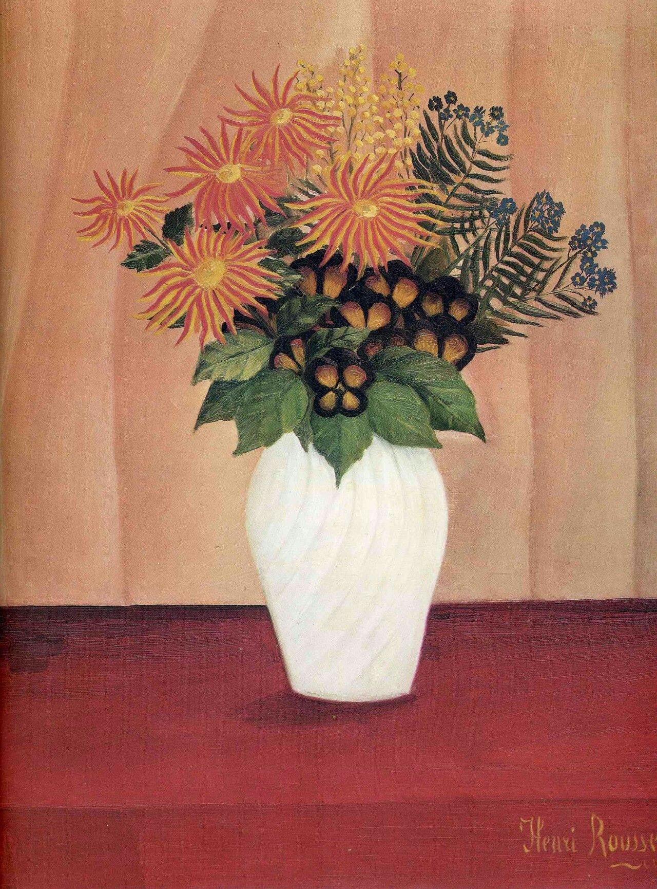 Bouquet of Flowers by Henri Rousseau Size: 61x49.5 cm