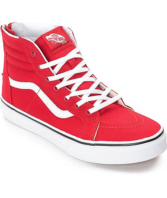 Vans Old Skool Racing Red & White Skate Shoes | Vans, Skate