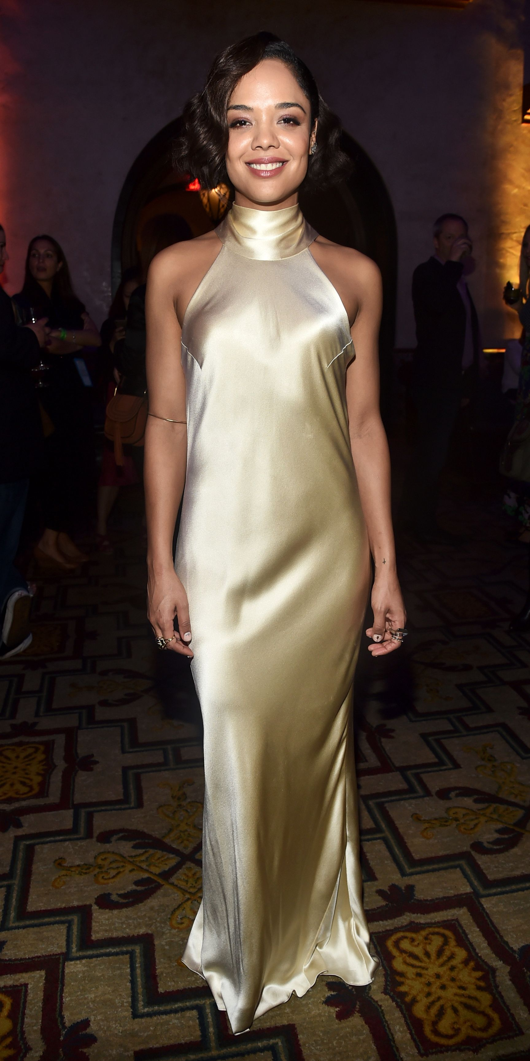 333952ef9d6 Celebrity Dresses · Tessa Thompson absolutely radiated at the premiere of  Thor  Ragnarok. The star kept her