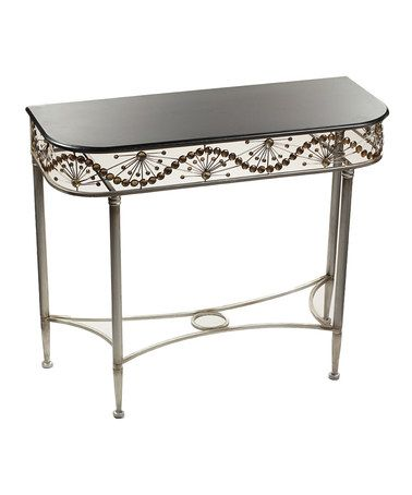 Love this Black Silver Console Table on zulily zulilyfinds