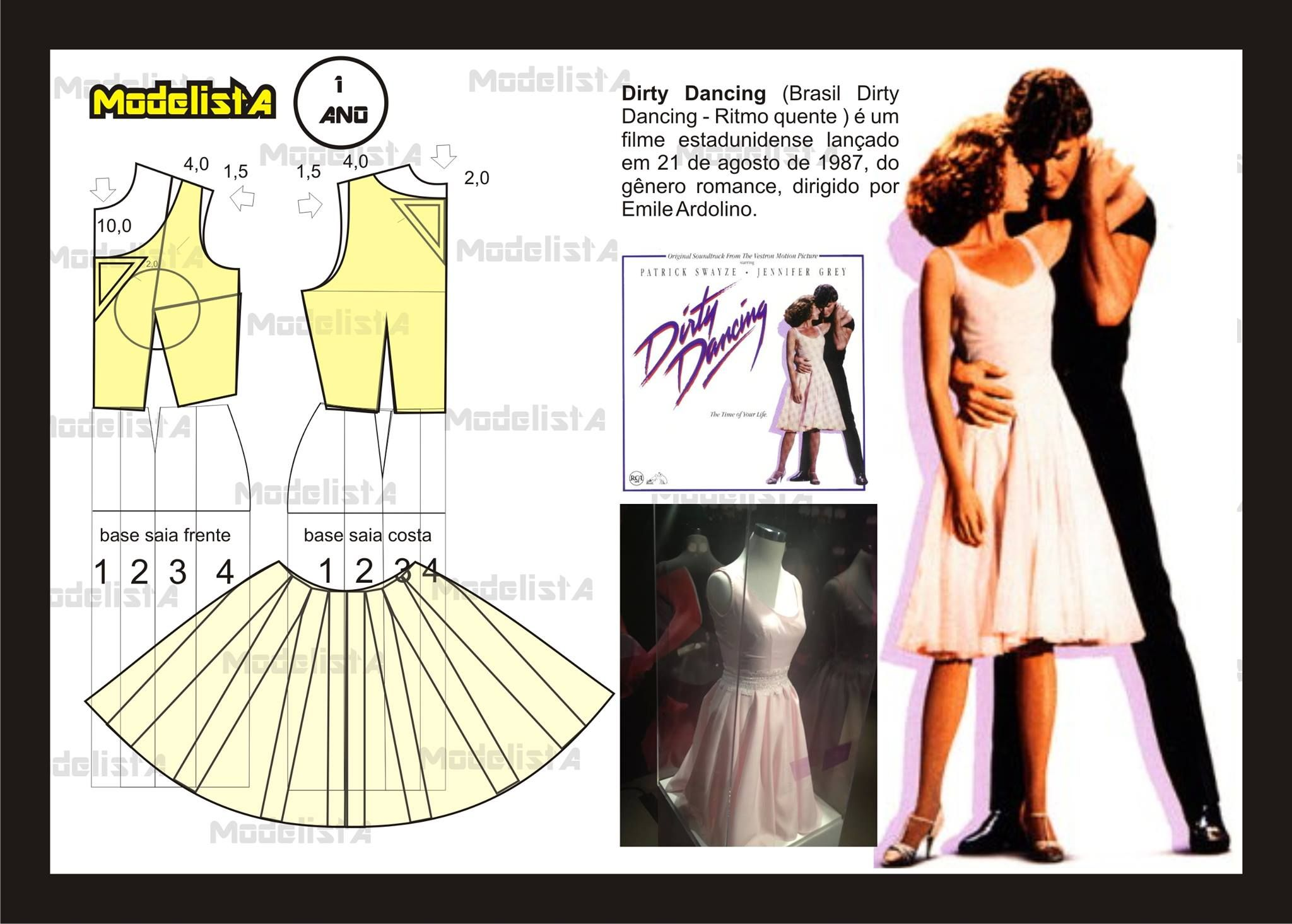 ModelistA Dirty Dancing dress | pola baju/ pattern | Dress patterns ...