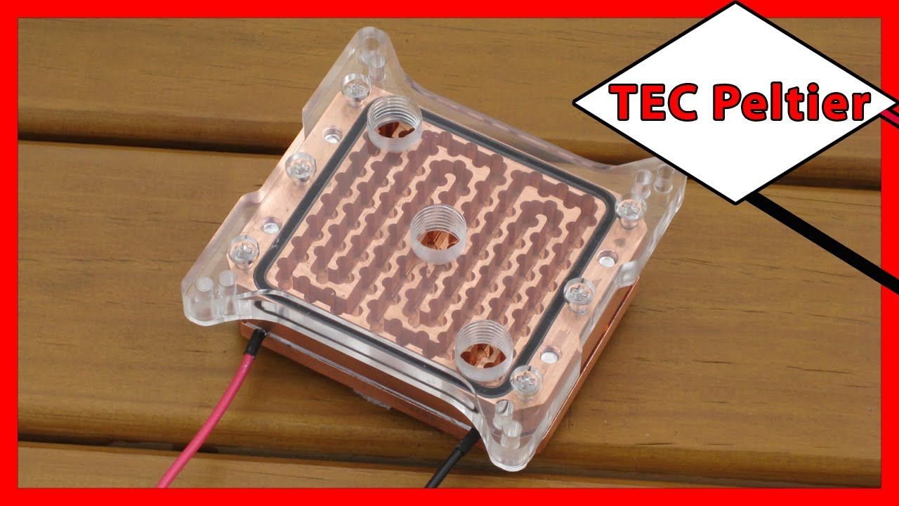⚡️ Thermoelectric Cooling (TEC) Peltier Water Block For Water