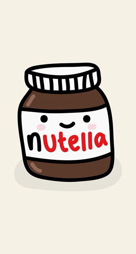 Nutella Kawaii Cute Fond D Ecran Nourriture Fond D Ecran Telephone Fond D Ecran Pour Android