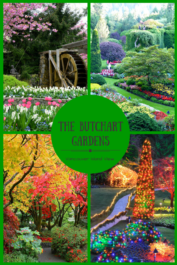 The Spectacular Butchart Gardens - Vancouver Island View #butchartgardens