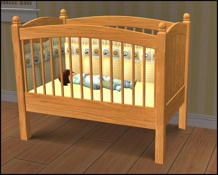 The Sims 2 Hugelunatic Crib And Changing Table Add On To Match Caress Of Teak Bed Teak Nursery Teak Nursery