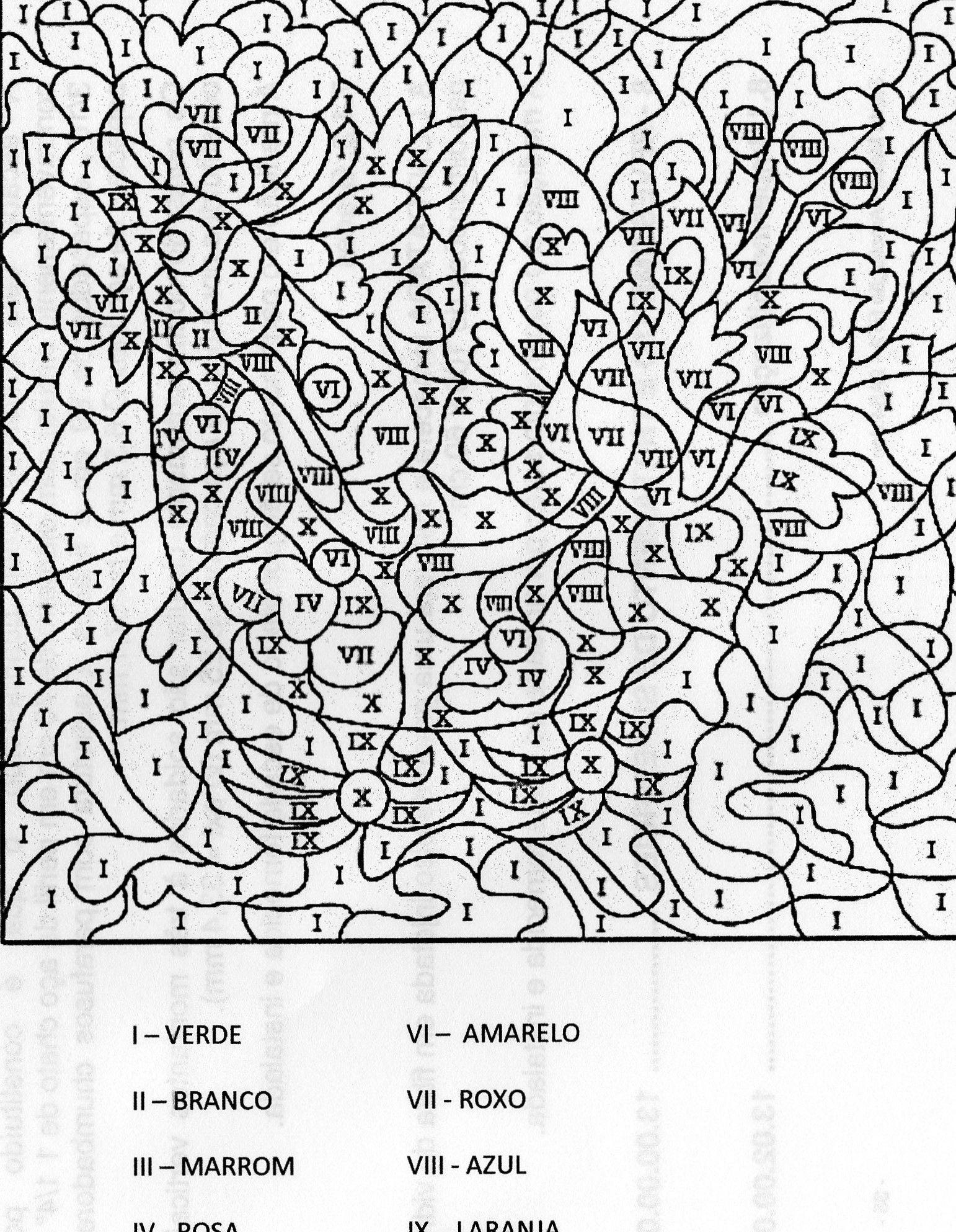 Numeros Romanos Numeros Romanos Dibujo De Escuela Colorear Por