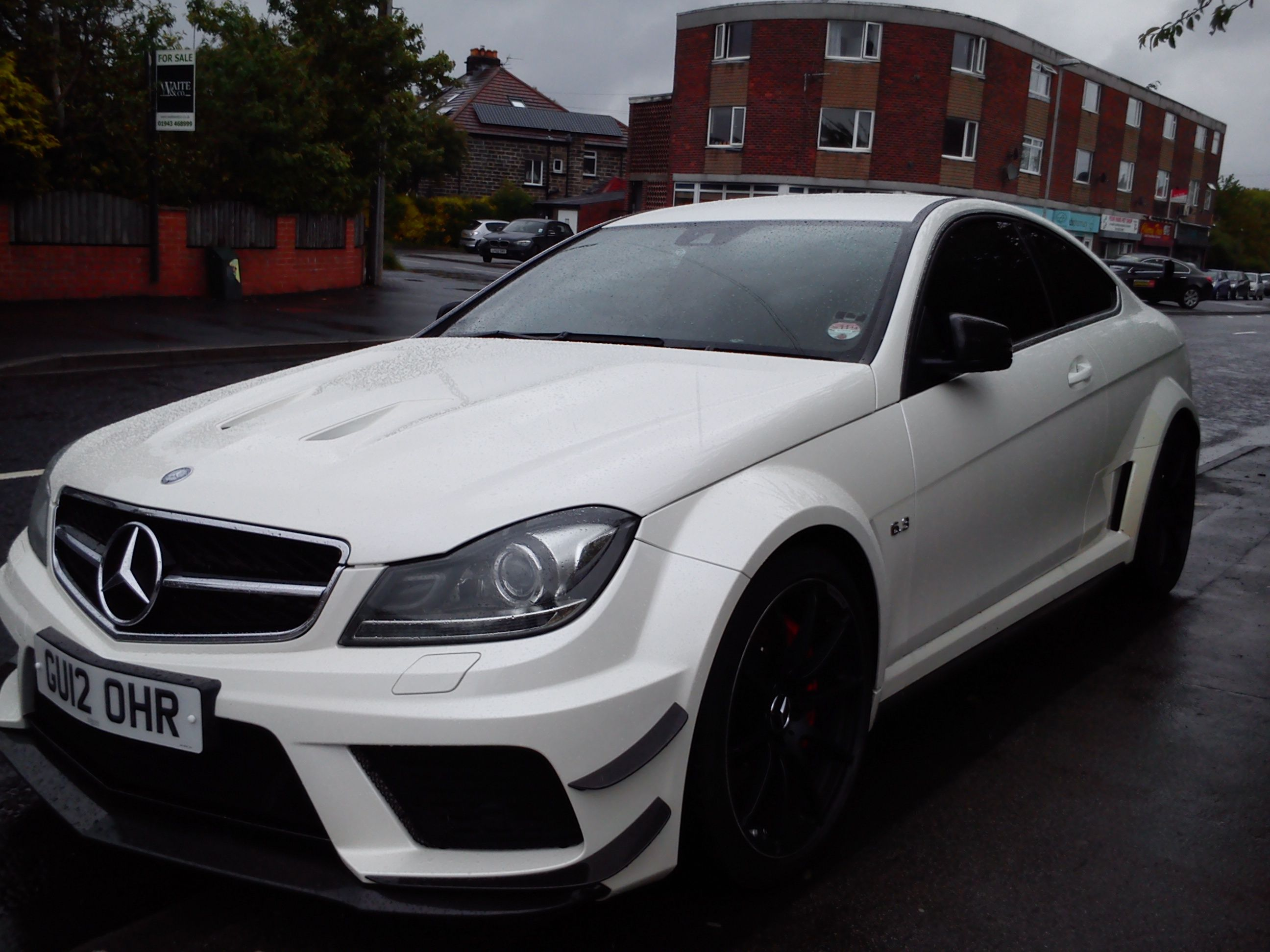 mercedes benz c63 amg black series in white with black rims brutal - Mercedes Benz C63 Amg Black Series White