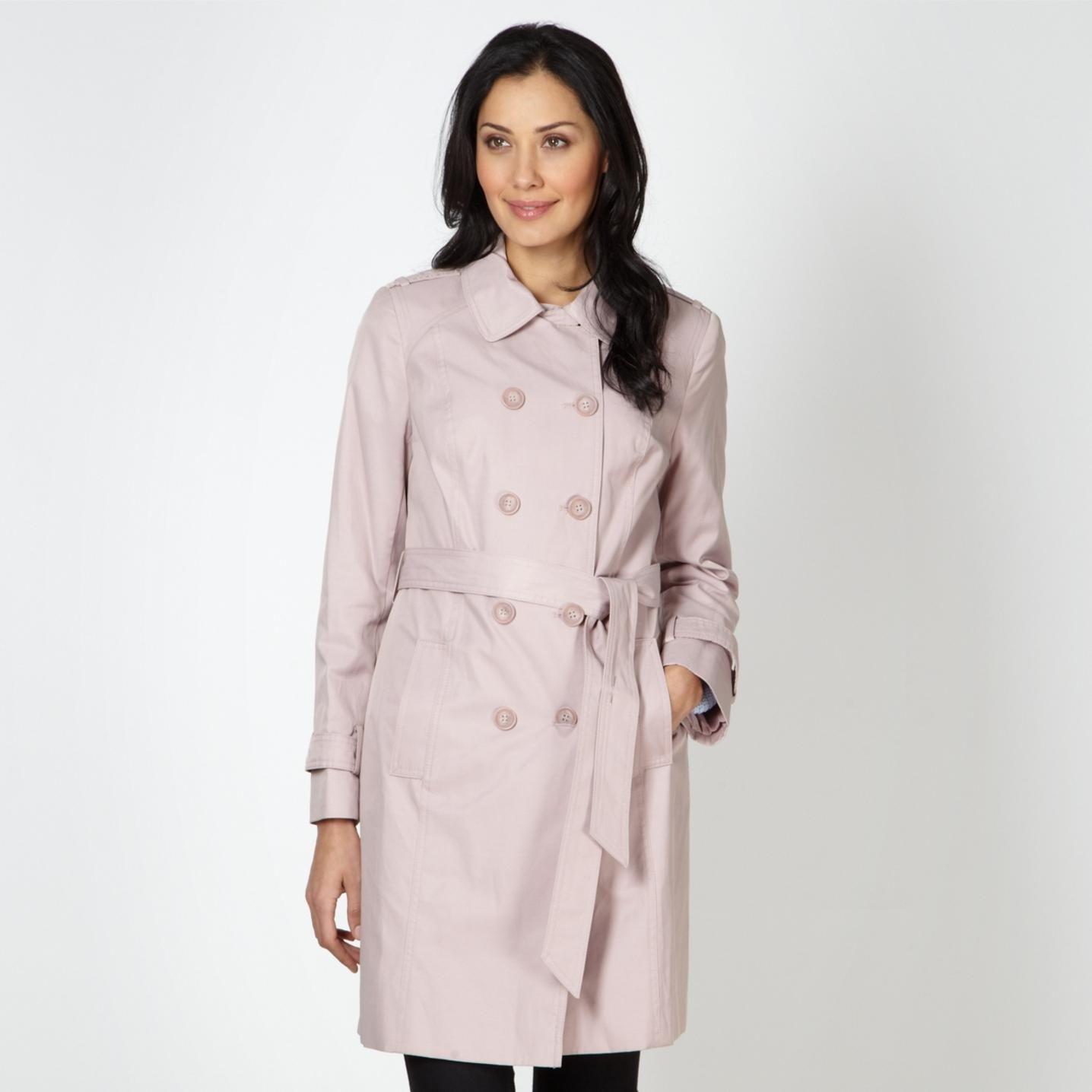 Pale pink mac coat http://picvpic.com/women-coats-jackets-coats ...