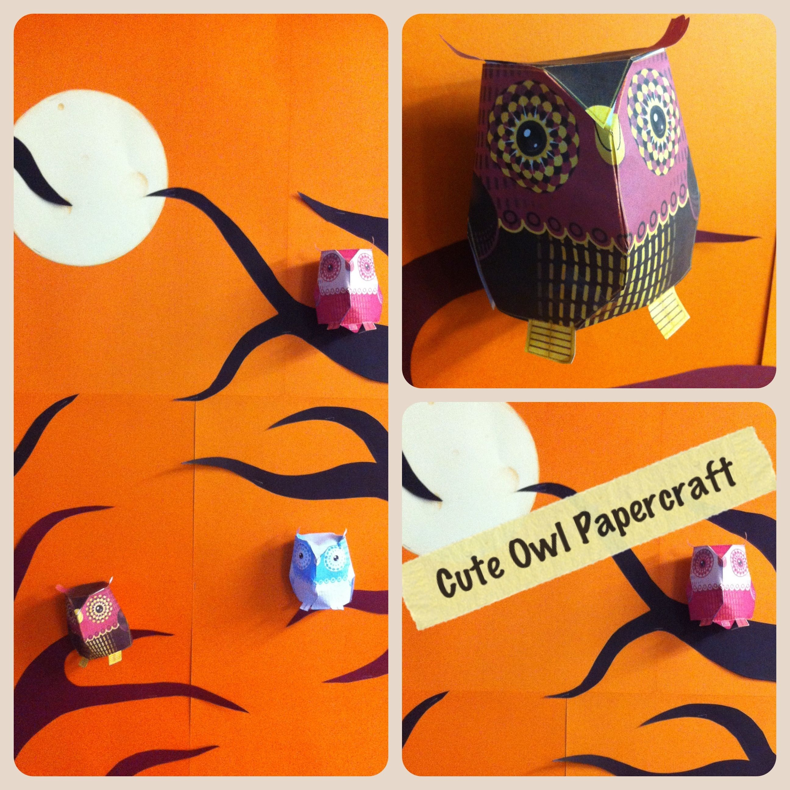 We made this owl display at school possibly for halloween very we made this owl display at school possibly for halloween very cute owl paper craft simply cut out and stick suitable for over age 9 approx free jeuxipadfo Choice Image