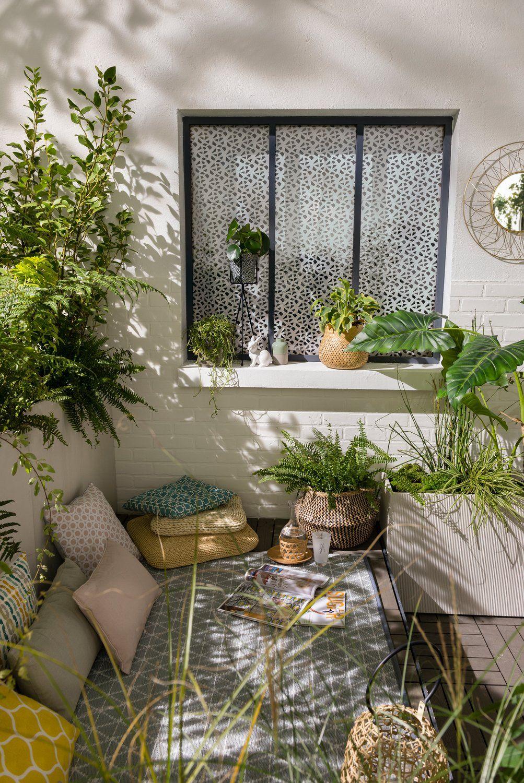 Balcons : le top des aménagements   Aménagement petit balcon, Petit balcon, Jardin au balcon d ...
