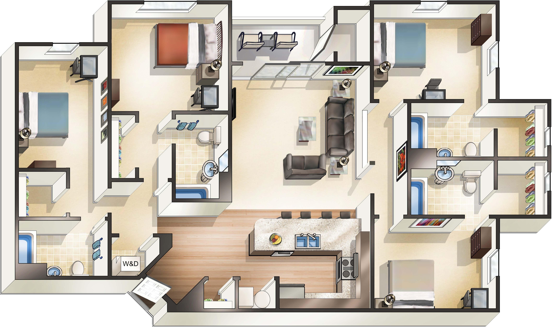 Cheap 3 Bedroom Apartments In Phoenix Az 4 Bedroom Apartments Apartment Guide 3 Bedroom Apartment