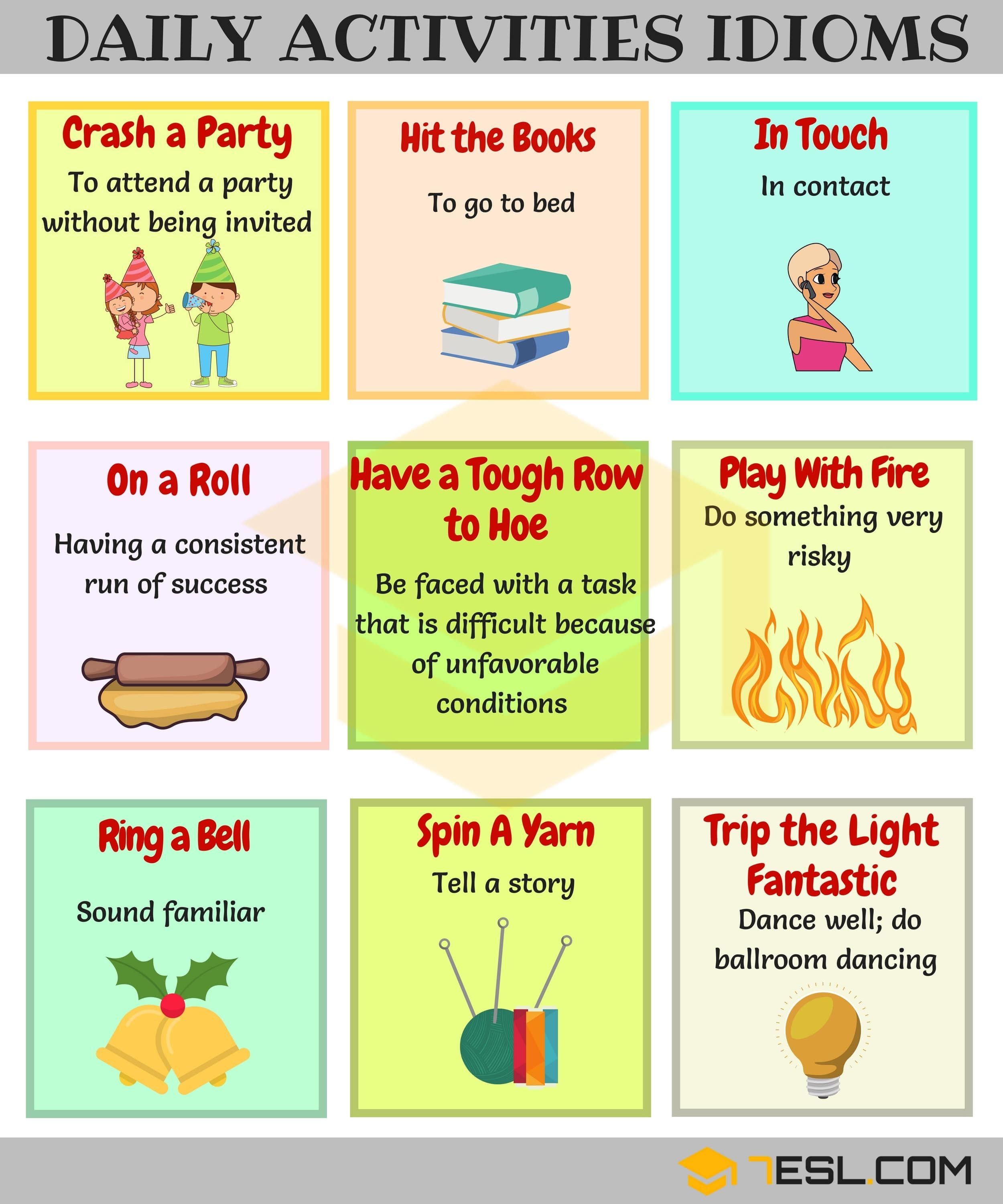22 Commonly Used Daily Routines Idioms In English