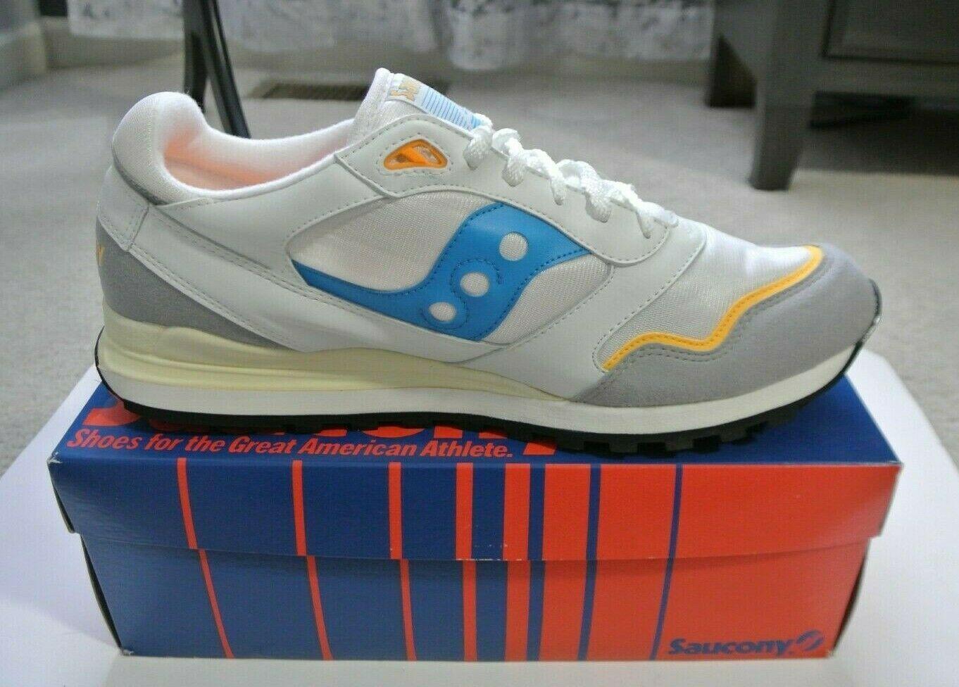 super popular bd96a 0ea46 Vtg 90's NWB Men's Saucony Jazz 3000 White/Blue/Yellow Shoes ...