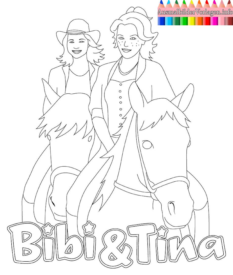 Ausmalbilder Bibi Und Tina Pferde  Coloring pages for kids, Free
