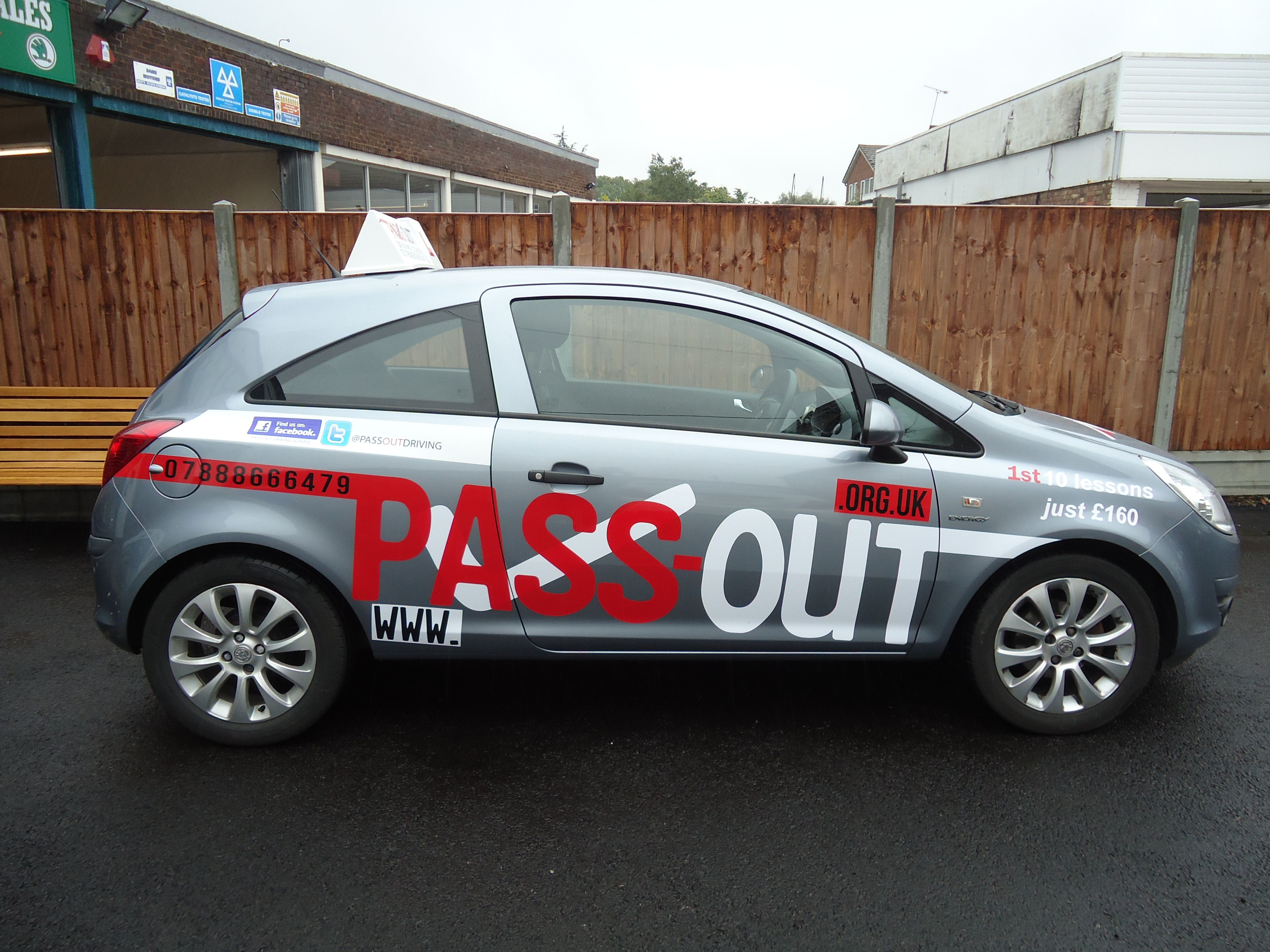 Pass Out Driving School Sign Writing By Grayers Graphics Print Vinyl Stickers Driving School Car Graphics [ 3072 x 4096 Pixel ]