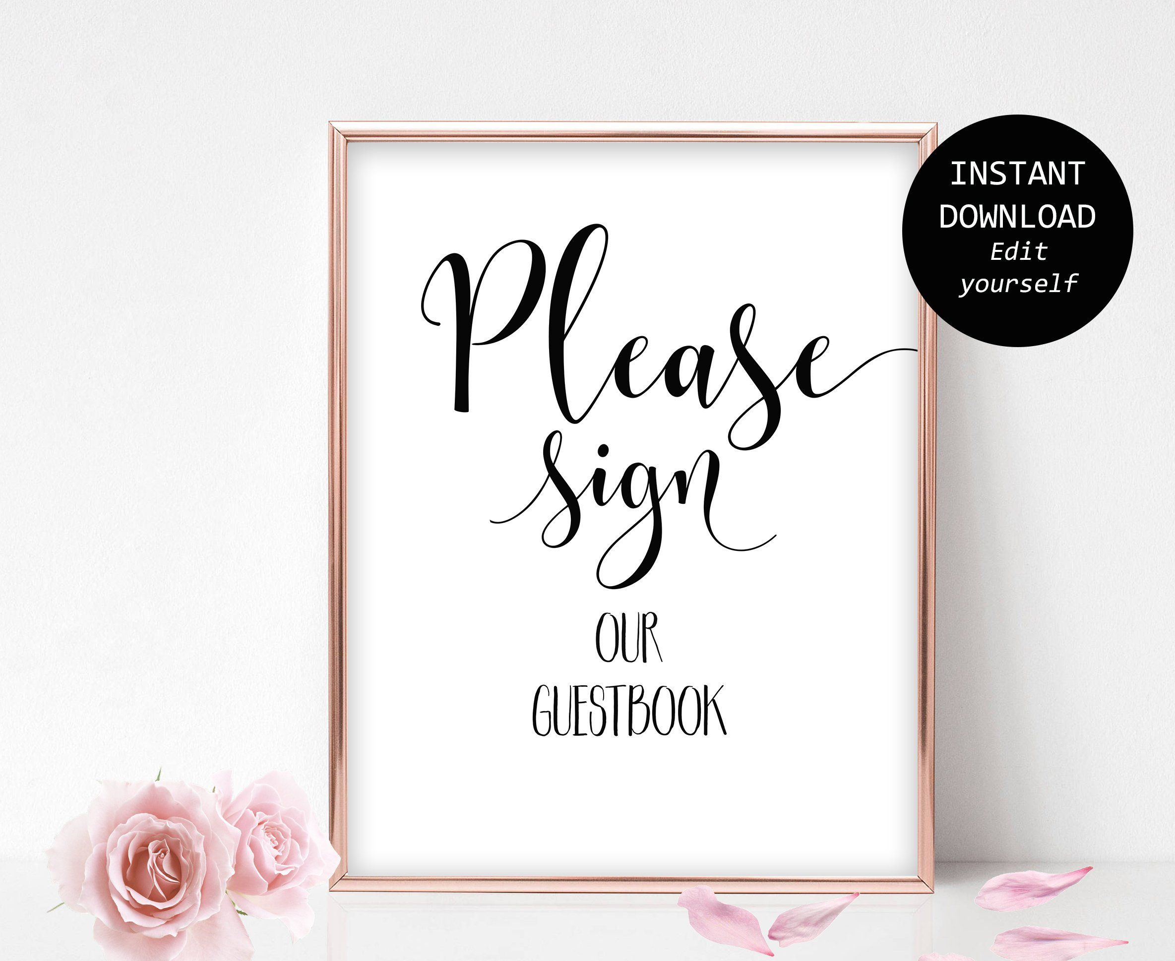 photo about Please Sign Our Guestbook Printable named Printable Make sure you Signal Template You should Indication Our Canvas