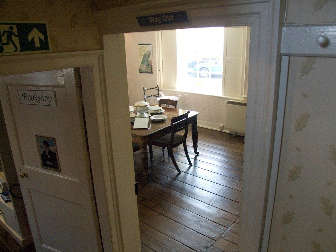 The famous creaking door that led to the room where Jane Austen wrote. Image @ & The famous creaking door that led to the room where Jane Austen ...