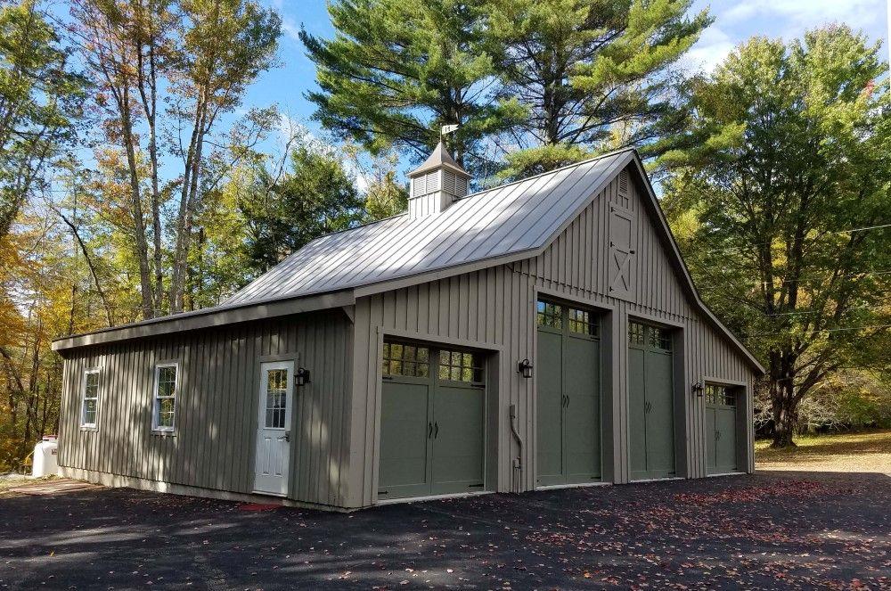 Garage & Enclosed LeanTo Meredith, NH Modular barns