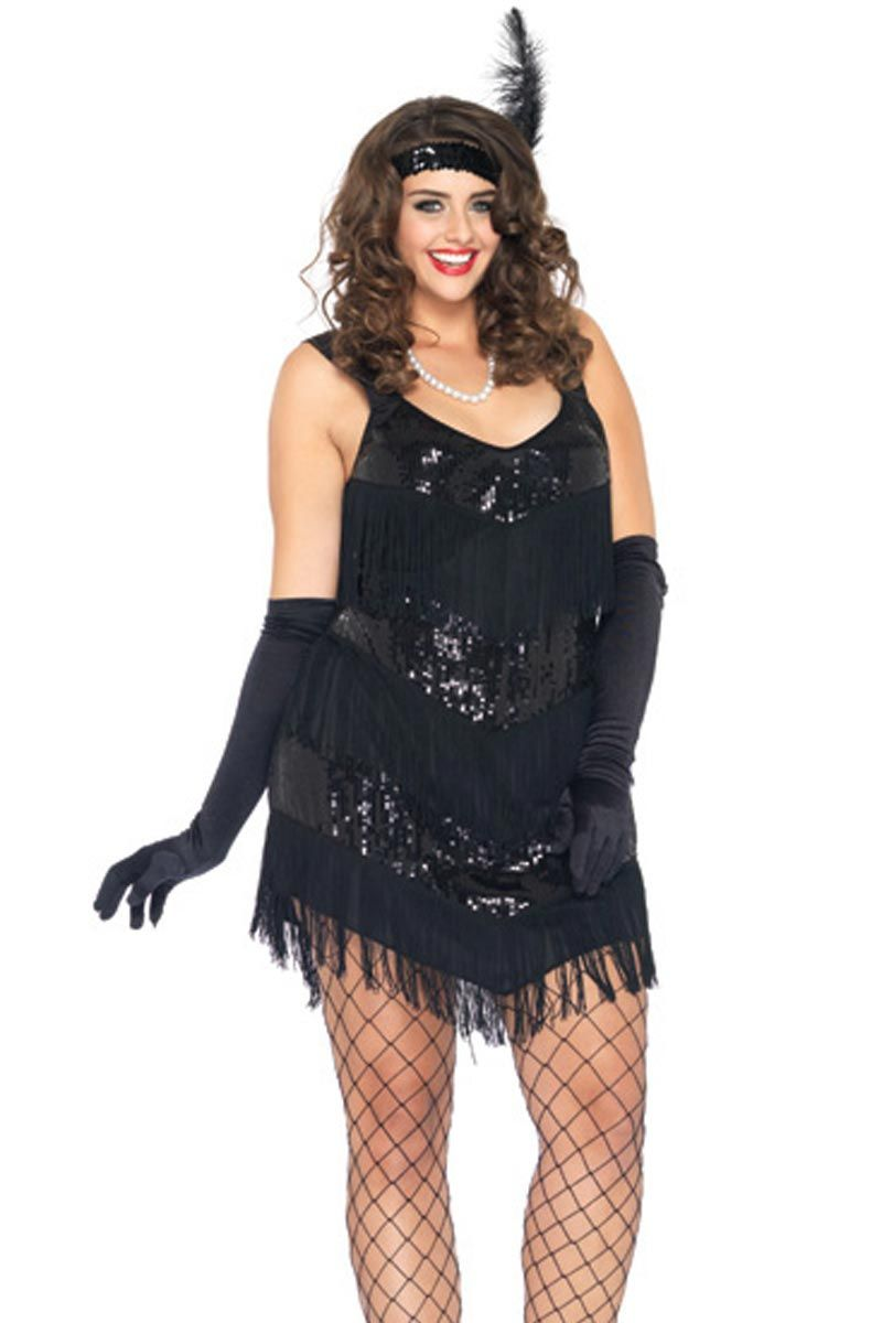 2e33a0b3420a Plus Size Halloween Costume Flapper Girl | Sexy Plus Size Costumes ...