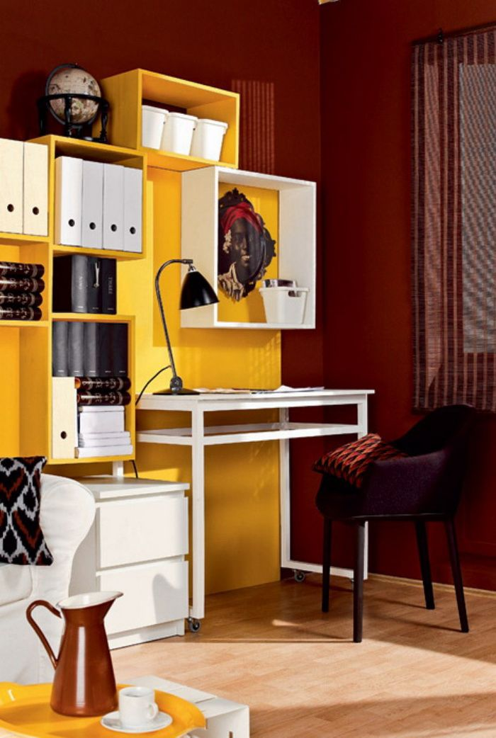 Compact Home Office In A Living Room