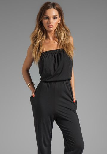 c2f22268c603 BOBI Supreme Jersey Jumpsuit in Black at Revolve Clothing - Free Shipping!
