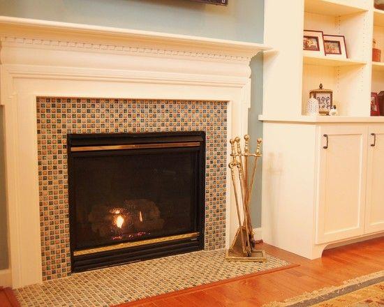 Fireplace Awesome Glass Mosaic Fireplace Surround Mosaic Glass Tile Glass Tile Fireplace Mosaic Fireplace Fireplace Surrounds Fireplace Tile Surround