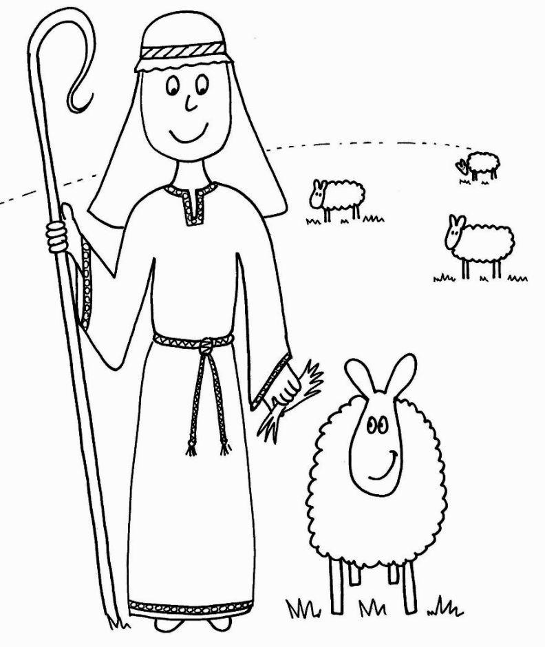 Shepherd Coloring Page | Lord is my shepherd | Pinterest | Sunday school