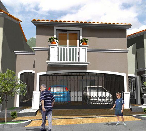 Casas mexicanas fachada 6 de casa mexicana moderna en for Fachadas de casas mexicanas