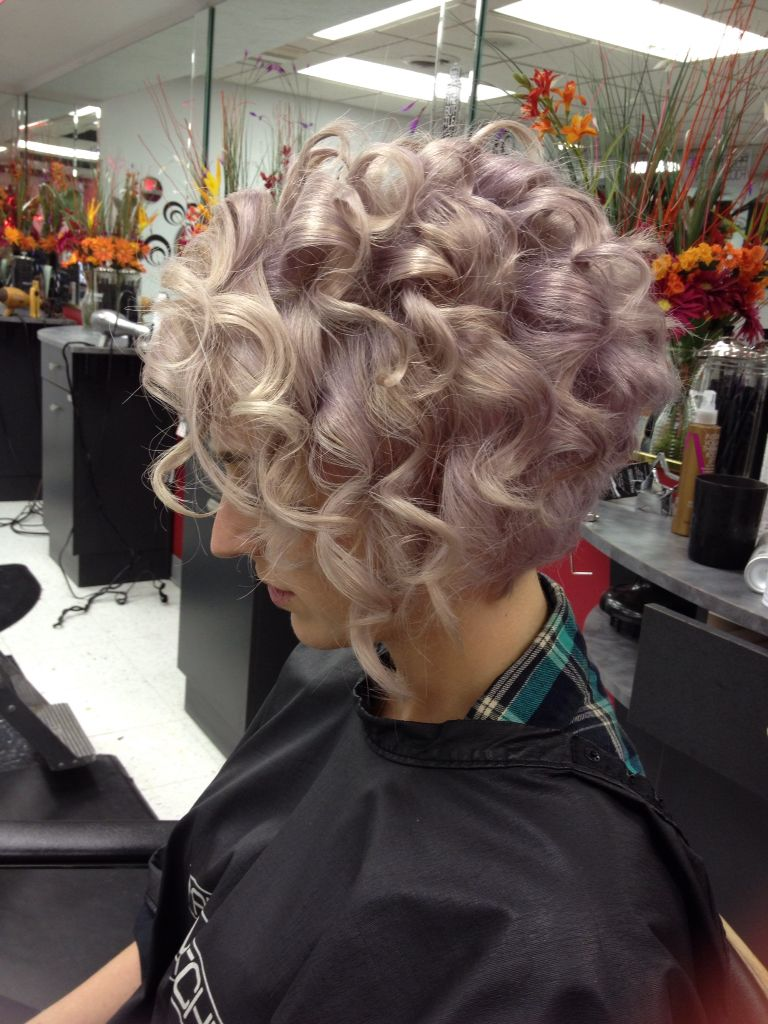 pastel purple platinum card hair