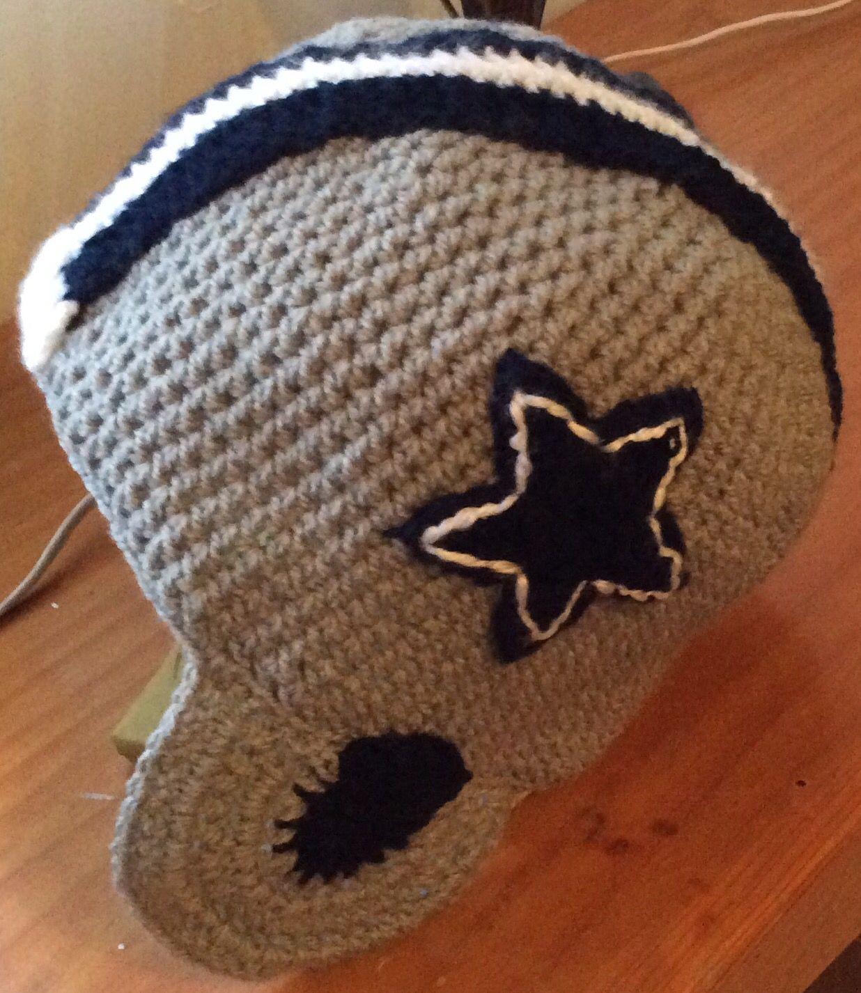Hermosa Dallas Cowboys Crochet Patrón De Sombrero Modelo - Manta de ...