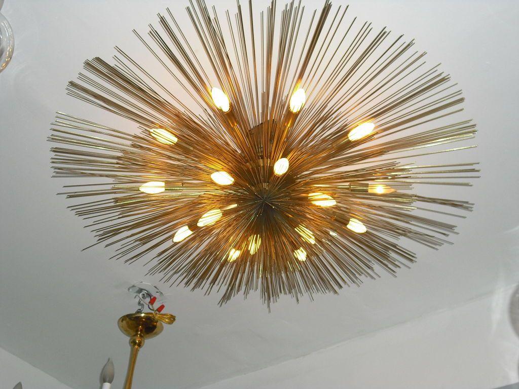 "Grand ""Nest"" Light Sculpture Flush Chandeliers, Mid-Century Mdern ... for Ceiling Light Sculpture  103wja"