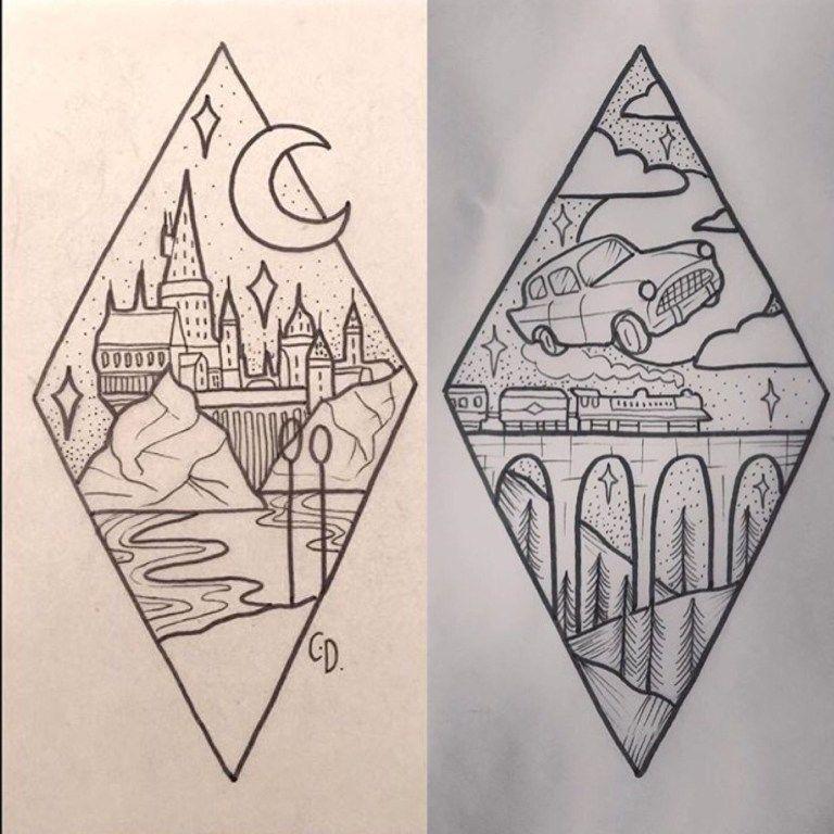 Disegni Bellissimi A Matita Facili Harry Potter Tattoo Ideas
