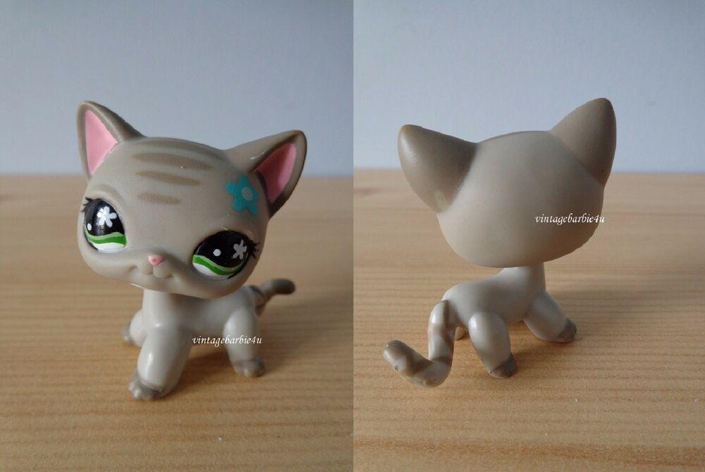 Littlest Pet Shop LPS Toys #483 Leopard Cat Flower Eyes Short Hair