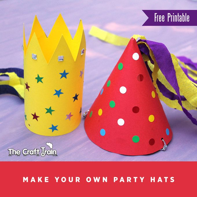 Make your own party hats Kids crafts and activities Pinterest - party hat template