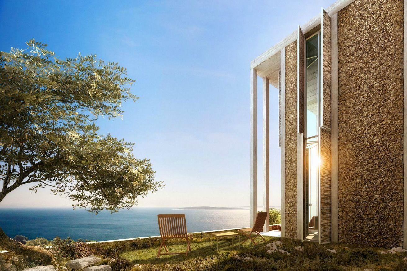 Modern Architecture Render modern architectural renderingdbox: stone exterior wall design