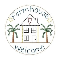 Farmhouse Candle Mat - 4x4   Primitive   Machine Embroidery Designs   SWAKembroidery.com HeartStrings Embroidery