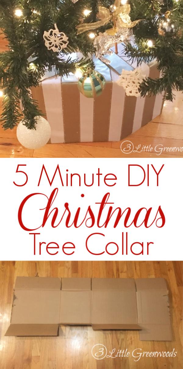 How To Make A Diy Christmas Tree Collar 3 Little Greenwoods Diy Christmas Tree Christmas Diy Homemade Christmas Tree