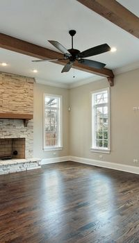 Dark Hardwood Floors, Nice For A Living Room