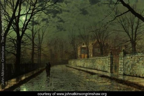 A Moonlit November Night John Atkinson Grimshaw Www
