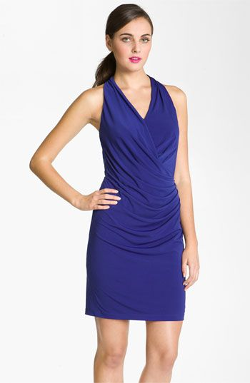 Suzi Chin for Maggy Boutique Ruched Racer Back Jersey Dress available at Nordstrom