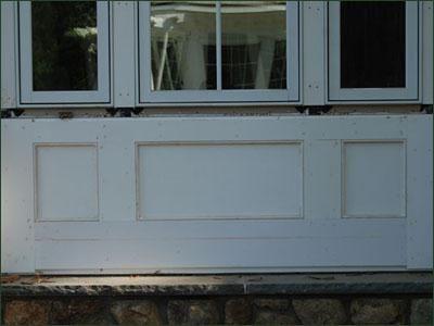Cellular Vinyl Raised Window Panels From Walpole Woodworkers