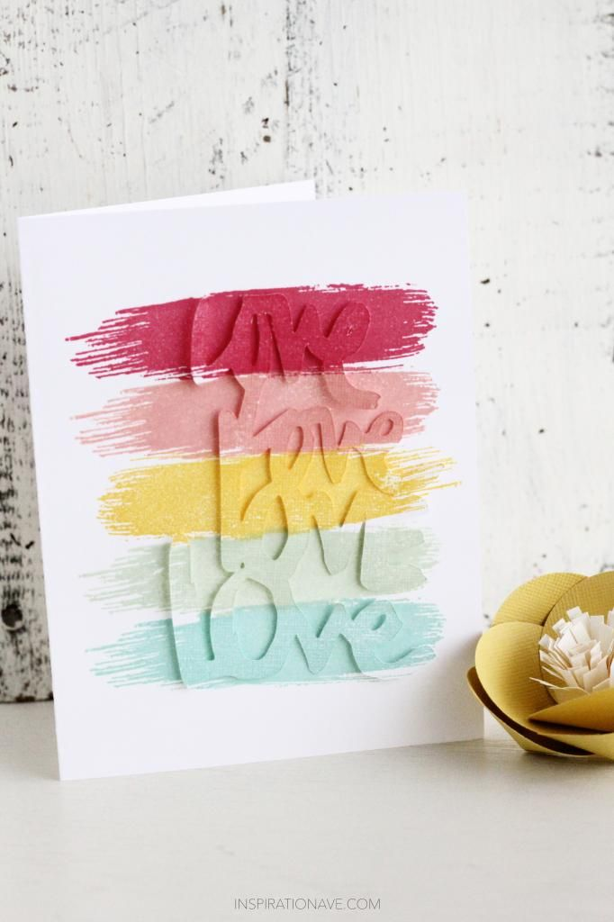 Color love | Supplies: | Pink Paislee | Stampinup! In color ink pads | Two peas cutting file|